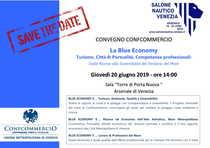 Save the Date - Confcommercio e la Blue Economy il 20 giugno alle ore 14:00 presso il Salone Nautico di Venezia