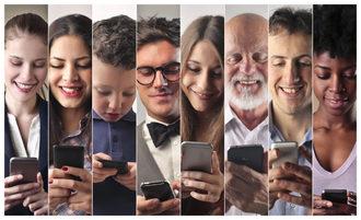 Statistiche impressionanti sul nostro uso dei telefoni cellulari