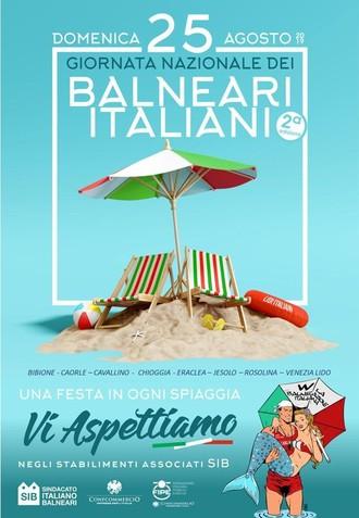 Domenica 25 agosto tutti in spiaggia per la  Giornata Nazionale dei Balneari Italiani!