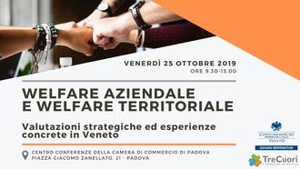 """""""Welfare aziendale e welfare territoriale"""" il 25 ottobre alle ore 9:30 presso il Centro Conferenze della Camera di Commercio di Padova"""