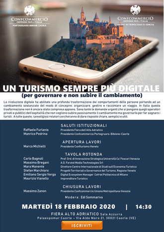 """Mancano solo dieci giorni al convegno """"Un turismo sempre più digitale"""": Stefan Marchioro sarà il terzo relatore"""