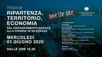 Save the Date: Webinar Ripartenza, Territorio, Economia - mercoledì 3 giugno, dalle ore 10:30