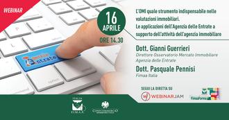 """Webinar gratuito FIMAA Confcommercio """"Omi e valutazioni immobiliari"""" - 16.04.2021, ore 14:30"""